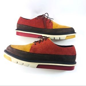 Camper Shoes - Camper Men's Size 41 Color Block Suede Oxfords